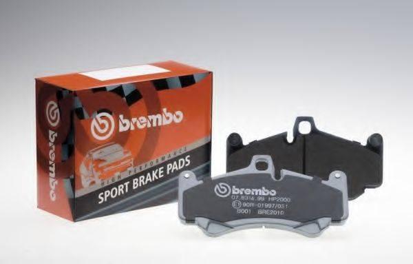 BREMBO 07B31524 Комплект высокоэффективных тормозных колодок