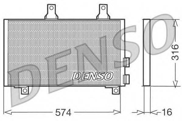 DENSO DCN01002 Конденсатор, кондиционер