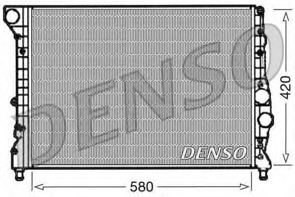 Радиатор, охлаждение двигателя DENSO DRM01001