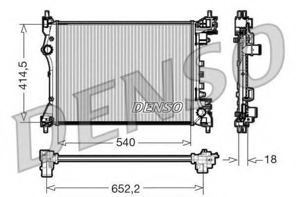 Радиатор, охлаждение двигателя DENSO DRM01005