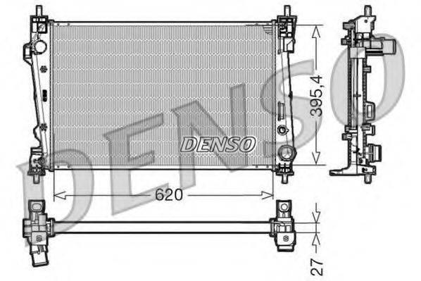 Радиатор, охлаждение двигателя DENSO DRM01006