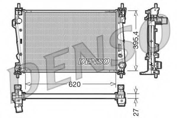 Радиатор, охлаждение двигателя DENSO DRM01007