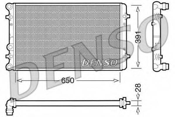 Радиатор, охлаждение двигателя DENSO DRM02007