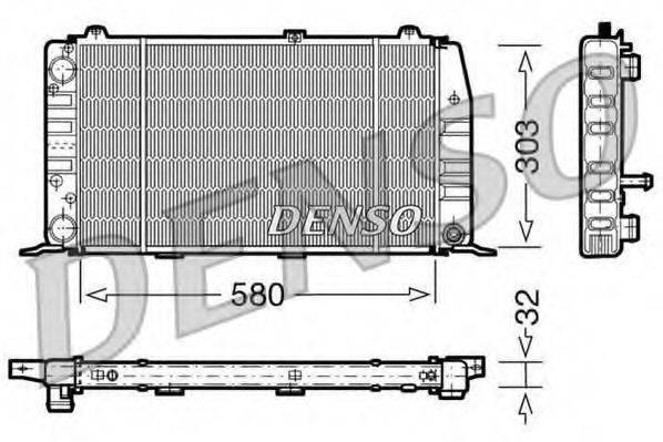 Радиатор, охлаждение двигателя DENSO DRM02010