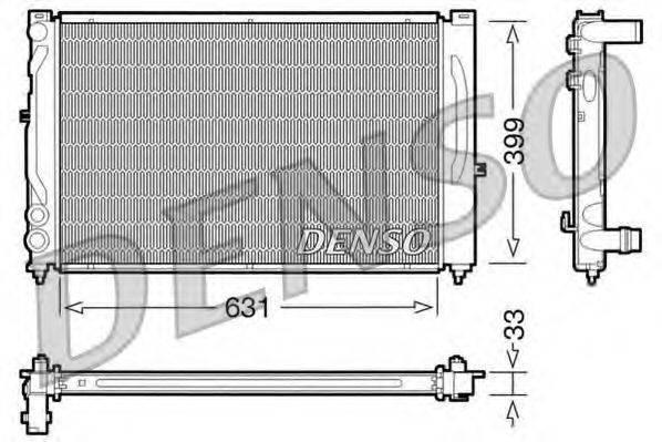 Радиатор, охлаждение двигателя DENSO DRM02020