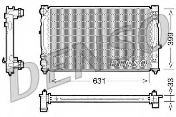 Радиатор, охлаждение двигателя DENSO DRM02030