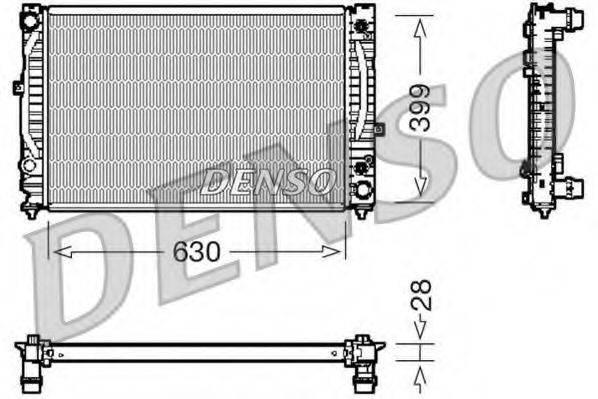Радиатор, охлаждение двигателя DENSO DRM02031