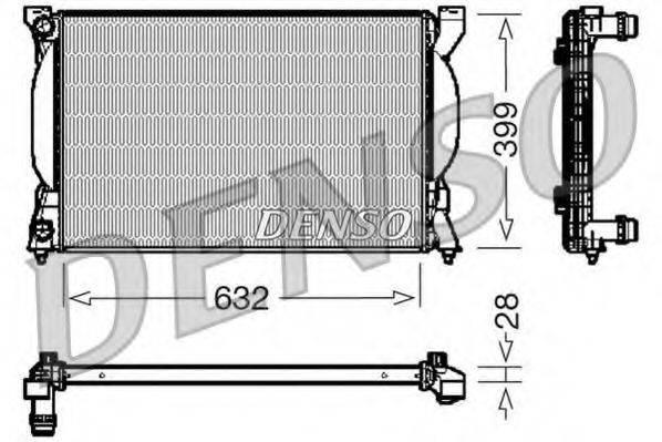 Радиатор, охлаждение двигателя DENSO DRM02033