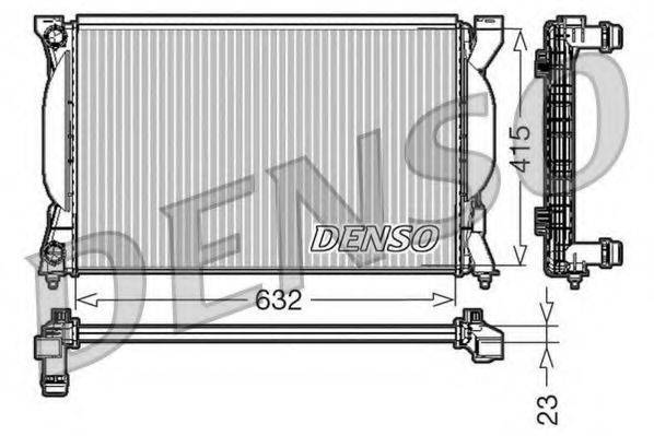 Радиатор, охлаждение двигателя DENSO DRM02035