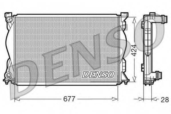 Радиатор, охлаждение двигателя DENSO DRM02036