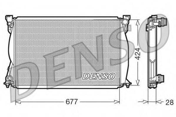 Радиатор, охлаждение двигателя DENSO DRM02038
