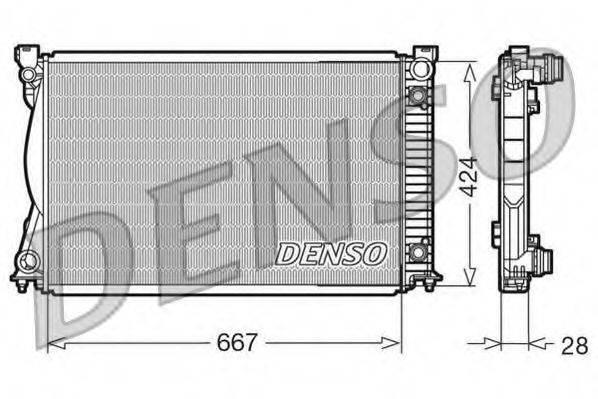 Радиатор, охлаждение двигателя DENSO DRM02039