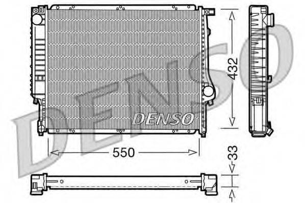 Радиатор, охлаждение двигателя DENSO DRM05023