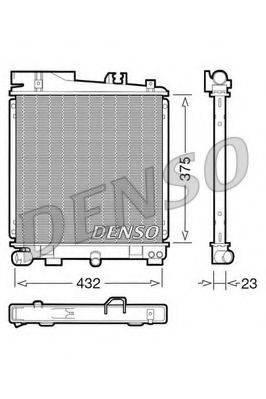 Радиатор, охлаждение двигателя DENSO DRM05029