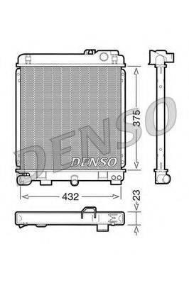 Радиатор, охлаждение двигателя DENSO DRM05030