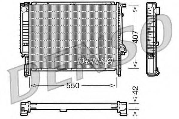 Радиатор, охлаждение двигателя DENSO DRM05039