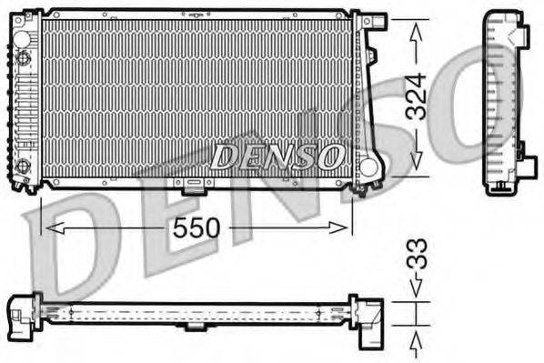 Радиатор, охлаждение двигателя DENSO DRM05059