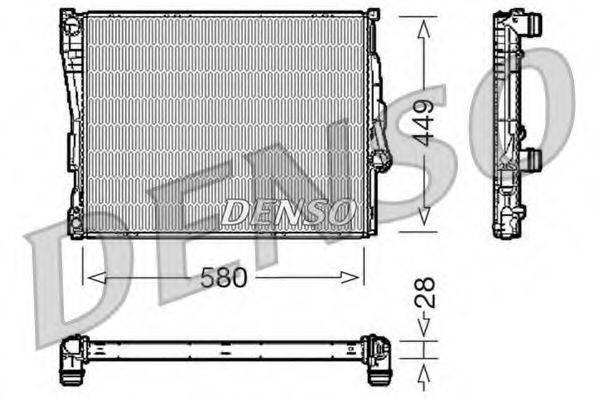 Радиатор, охлаждение двигателя DENSO DRM05069