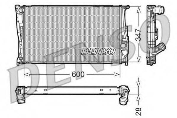 Радиатор, охлаждение двигателя DENSO DRM05111