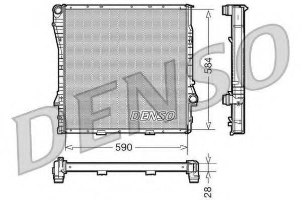 Радиатор, охлаждение двигателя DENSO DRM05116
