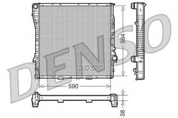 Радиатор, охлаждение двигателя DENSO DRM05117