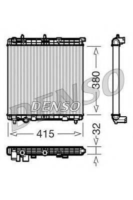 Радиатор, охлаждение двигателя DENSO DRM07011