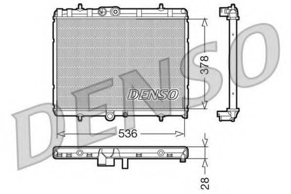 Радиатор, охлаждение двигателя DENSO DRM07015