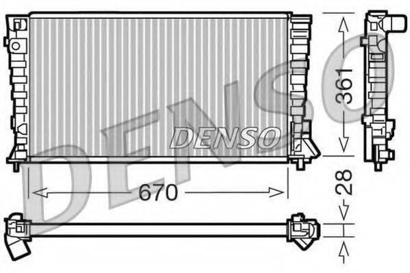 Радиатор, охлаждение двигателя DENSO DRM07020