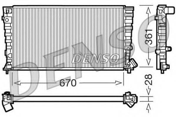 Радиатор, охлаждение двигателя DENSO DRM07030