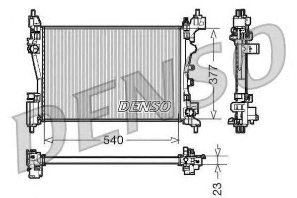 Радиатор, охлаждение двигателя DENSO DRM07042