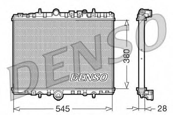 Радиатор, охлаждение двигателя DENSO DRM07056