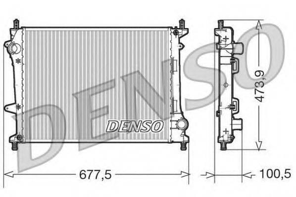 Радиатор, охлаждение двигателя DENSO DRM09037