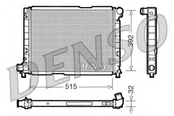 Радиатор, охлаждение двигателя DENSO DRM09050
