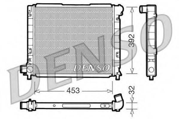 Радиатор, охлаждение двигателя DENSO DRM09051