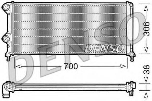 Радиатор, охлаждение двигателя DENSO DRM09060