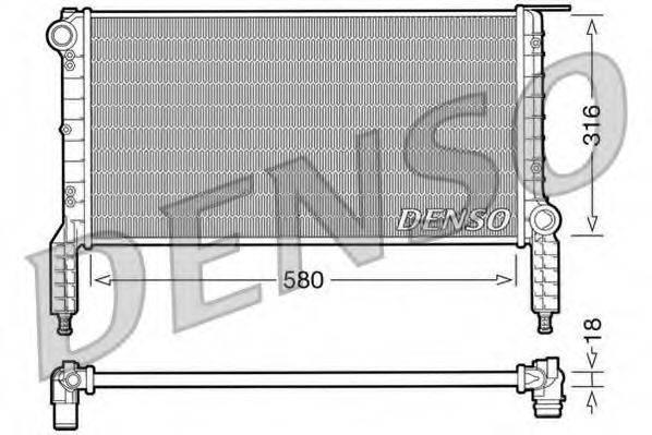 Радиатор, охлаждение двигателя DENSO DRM09063