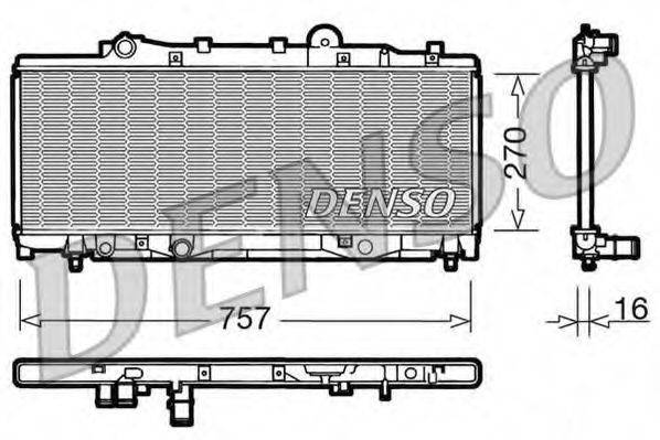 Радиатор, охлаждение двигателя DENSO DRM09090