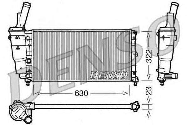 Радиатор, охлаждение двигателя DENSO DRM09097