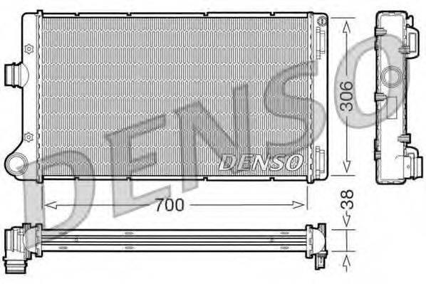 Радиатор, охлаждение двигателя DENSO DRM09099