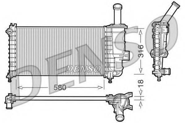 Радиатор, охлаждение двигателя DENSO DRM09100