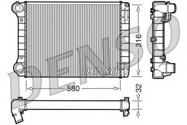 Радиатор, охлаждение двигателя DENSO DRM09101