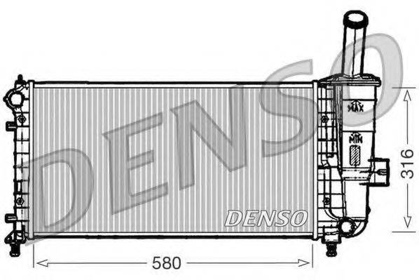 Радиатор, охлаждение двигателя DENSO DRM09102