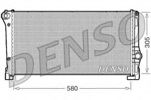 Радиатор, охлаждение двигателя DENSO DRM09104