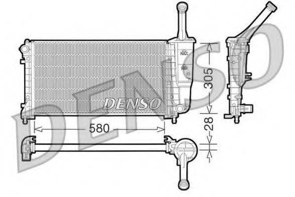 Радиатор, охлаждение двигателя DENSO DRM09106