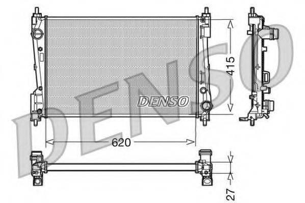 Радиатор, охлаждение двигателя DENSO DRM09110