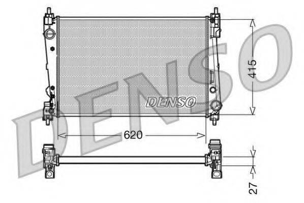 Радиатор, охлаждение двигателя DENSO DRM09111