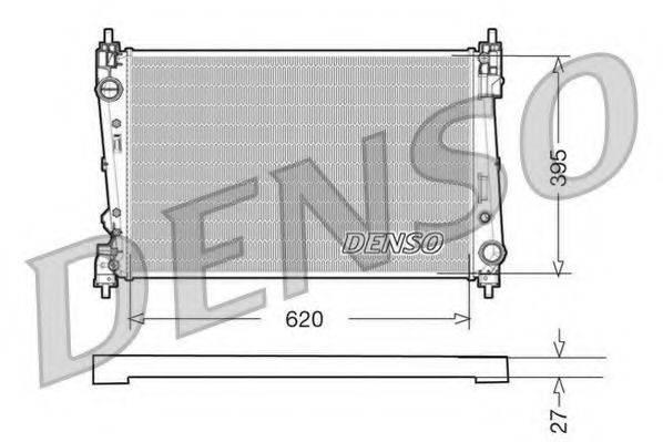 Радиатор, охлаждение двигателя DENSO DRM09112