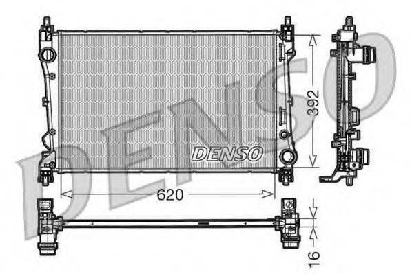 Радиатор, охлаждение двигателя DENSO DRM09113