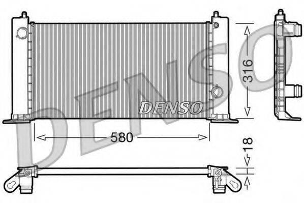 Радиатор, охлаждение двигателя DENSO DRM09120
