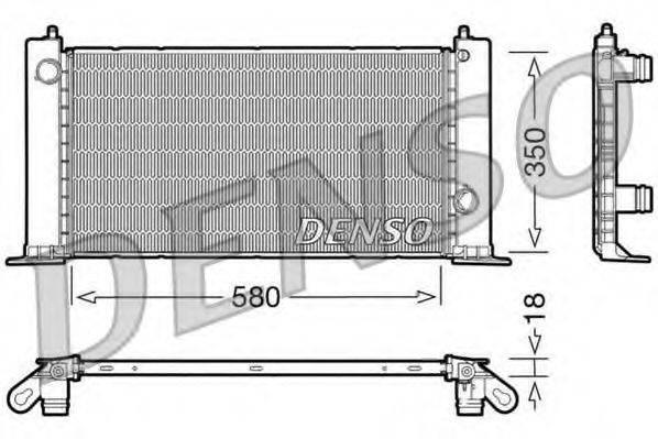 Радиатор, охлаждение двигателя DENSO DRM09121